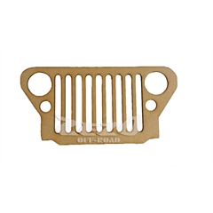Frente Grade Jeep Willys Cj2 Madeira MDF 6mm (40cmx20cm) Decorativa